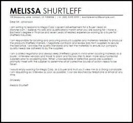 sle cover letter for a buyer cover letters