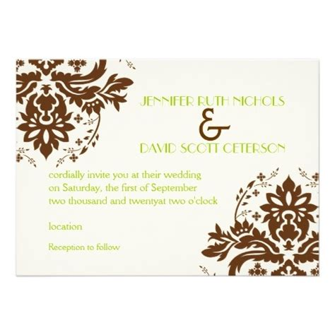brown and ivory wedding invitation kits 1000 images about brown ivory gold wedding on