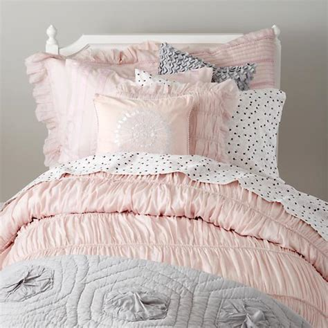 gray and pink bedding antique chic bedding set the land of nod
