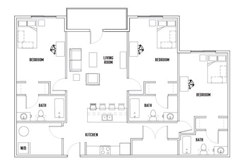 acc floor plan images 3 bedroom apartments montreal rooms court 3 bed 3 bath stadium centre student housing