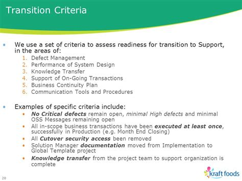 criteria design teams kraft foods sap support and operations jane von kirchbach