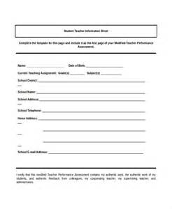 info sheet template information sheet template 6 free pdf documents