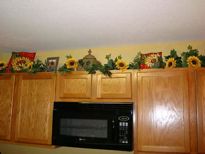 awesome images sunflower decals  kitchen cabinets