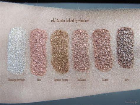 Bake Eyeshadow e l f studio baked eyeshadow review makeupfu