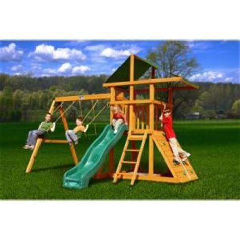 swing sets home depot gorilla playsets congo outing ii wood swing set from home