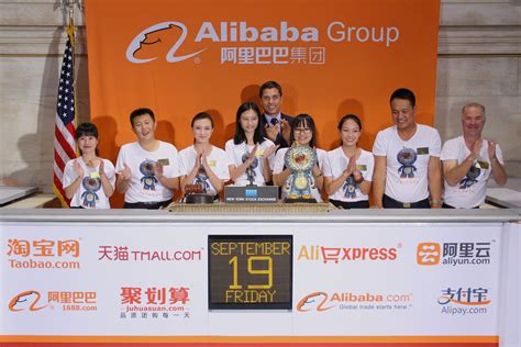 alibaba nyc nyse welcomes alibaba baba in pictures
