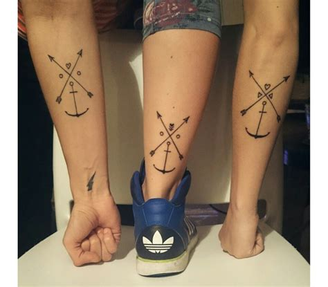 friendship arrow tattoo por3 amigas friendship crossed arrow ideas