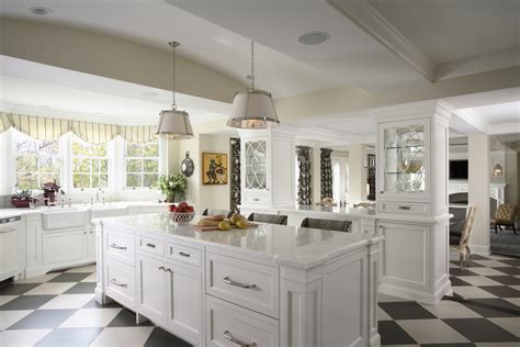 black and white tile kitchen Kitchen Traditional with black and white floor   beeyoutifullife.com