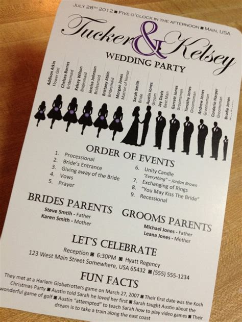 wedding ceremony program ideas the awesometastic bridal awesome wedding program