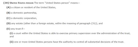 irc section 7701 b physical presence as a necessary condition for being a us