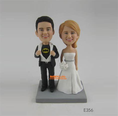 bobblehead cake topper batman cake topper custom wedding cake toppers bobblehead