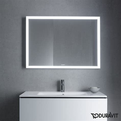 badezimmer vanity wandspiegel l cube led bathroom mirror by duravit just bathroomware
