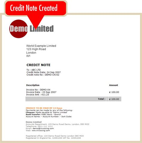 Sle Credit Note For Overpayment Create An Credit Note Invoicing System Iinvoicing