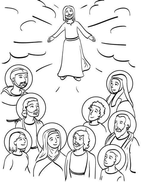 coloring page of catholic saints 57 best all saints day party a catholic feast day for