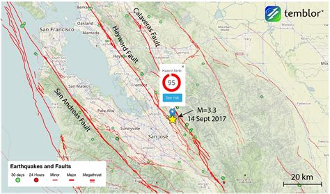 san jose earthquake map usgs m 3 3 earthquake shakes san jose temblor net