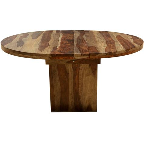 Circle Wood Dining Table Circle On The Square Solid Wood Dining Table W Extension