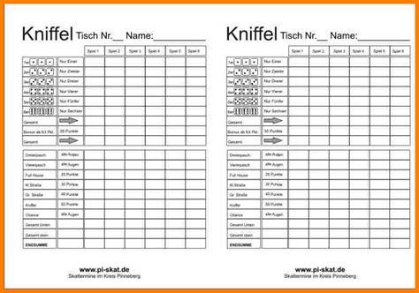 Vorlage Word Spielkarten Kniffel Vorlage Excel Pdf