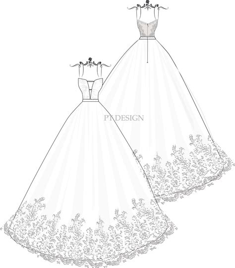 Wedding Sketch by Gown Wedding Dress Sketches Www Pixshark