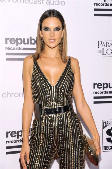 Republic Records Alessandra Ambrosio At Republic Records Grammy Celebration In Los Angeles 02 15 2016