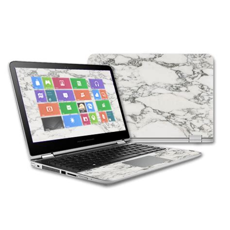 Custom Hp Marble Hardcase skin decal wrap for hp pavilion x360 13t touch 2015 skins white marble ebay