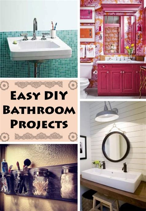 4 diy bathroom projects any pincher will