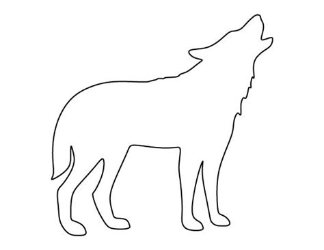 printable animal outlines printable animal outlines best 25 wolf outline ideas on