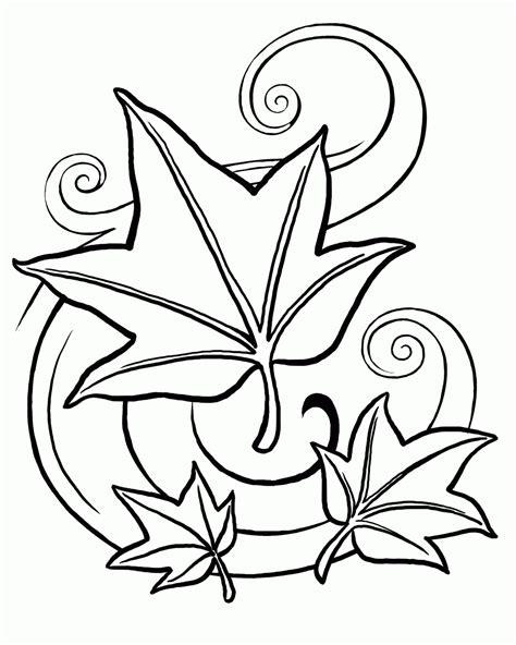 single leaf coloring page pot leaf coloring page 361183