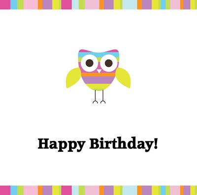 printable owl birthday card from www homemade gifts made easy com happy birthday care