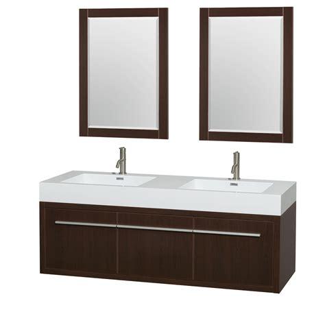 Inexpensive Modern Bathroom Vanities by Axa 60 Quot Wall Mounted Bathroom Vanity Set With