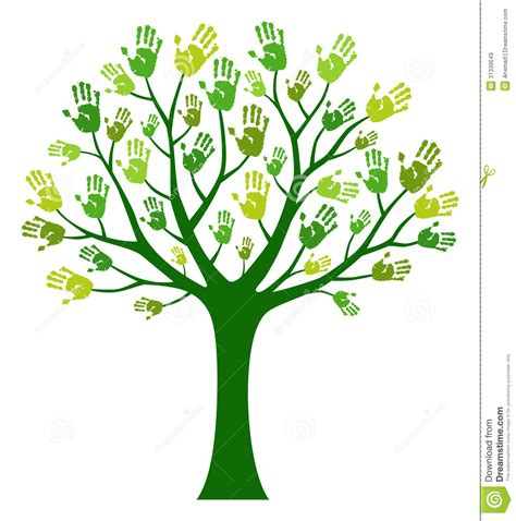 friendship tree template tree stock vector image of leaf support