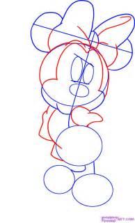learn draw step step draw minnie mouse