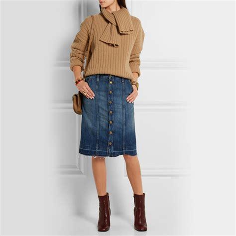 four ways to wear a denim skirt ylf