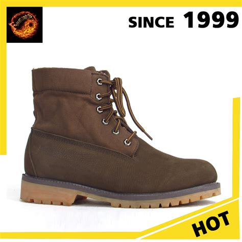 china wholesale high quality nubuck leather work ankle