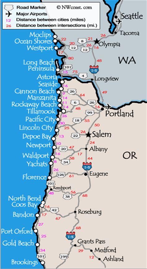 a map of oregon and washington washington coast pics