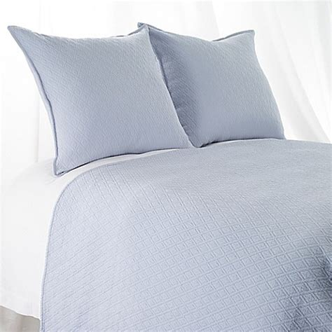 blue matelasse coverlet buy aura indi diamond matelasse king coverlet in light