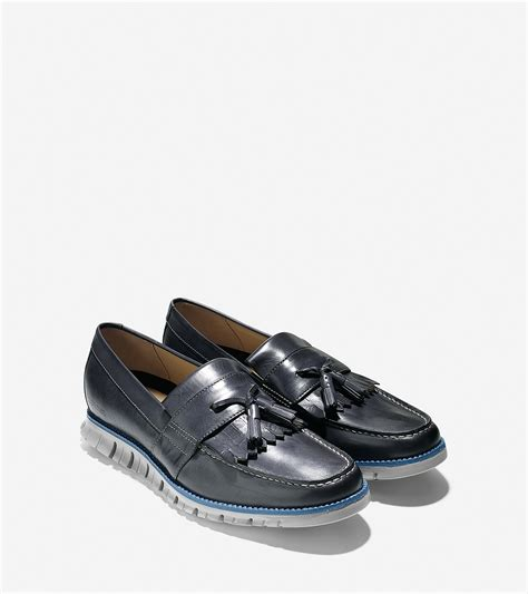 grey tassel loafers cole haan zer 248 grand tassel loafer in gray for lyst