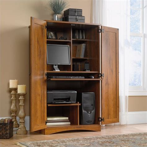 oak computer armoire harvest mill collection abbey oak computer armoire ebay