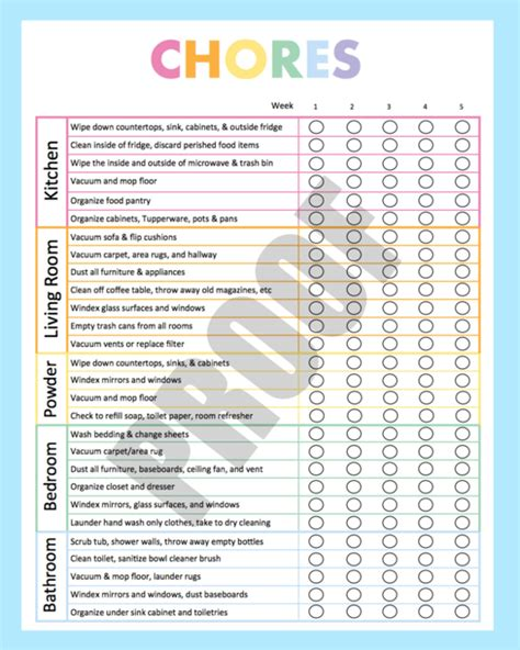 Cleaning Checklist Template 32 Word Excel Pdf Documents Download Free Premium Templates Cleaning Checklist Template