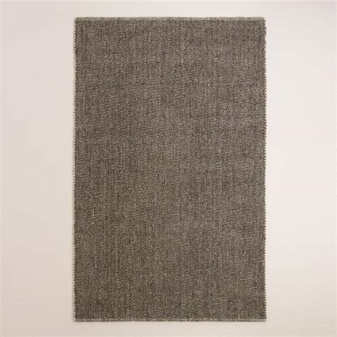 sweater wool rug charcoal emilie flatweave sweater wool area rug world market