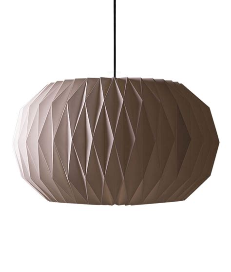 Folded Paper Light Shade - origami l shade geometric paper light shade