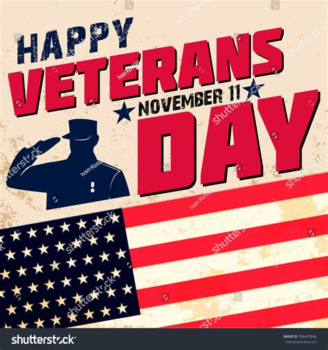 Happy Veterans Day Template Happy Veterans Day Card Template Vector Illustration 336407846 Shutterstock