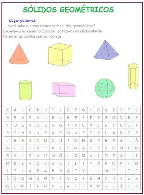 figuras geometricas quarto ano s 243 lidos geom 233 tricos compartilhando atividades