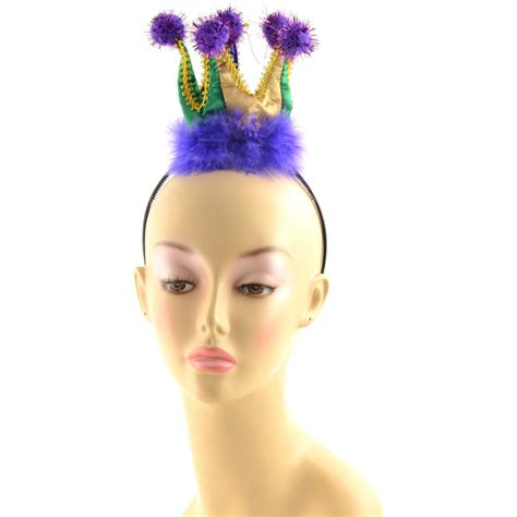 Crown Headband mini mardi gras crown headband 26036mgaj