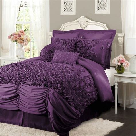 purple bed sets lush decor lucia purple bedding by lush decor bedding