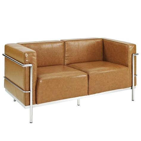 simple loveseat simple large leather loveseat modern furniture