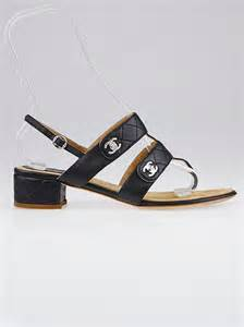 sandals chanel 1128 39 chanel black quilted leather sandals size 8 5 39
