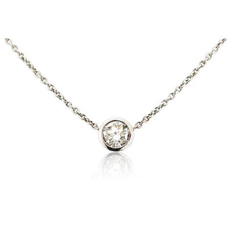 84ct solitaire 18k white gold pendant necklace