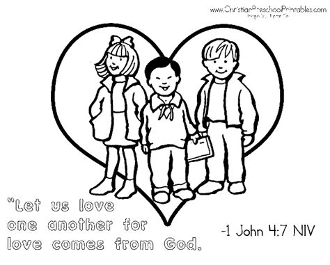 free coloring pages of 1john