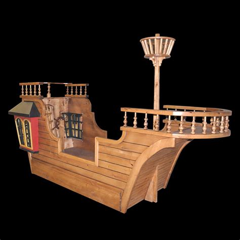 Pearl Pirate Ship Bed W Trundle Crows Nest And More Pirate Ship Bed