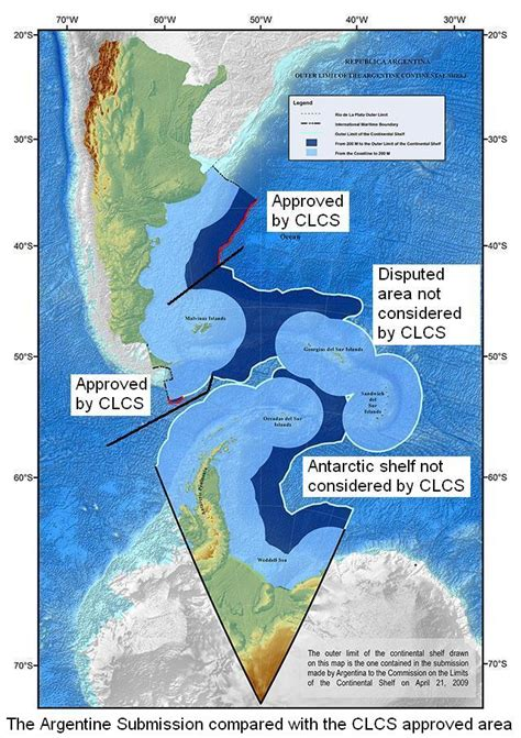 Sea Continental Shelf Summary by Delimitation Of The Argentine Continental Shelf
